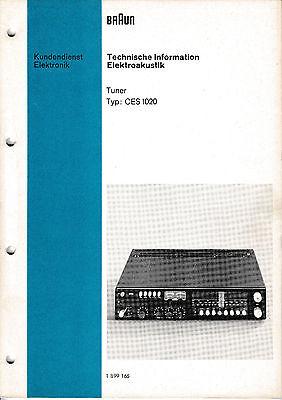 Service Manual-Anleitung für Braun CES 1020