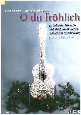 Peter Ansorge - O du fröhliche für 1-3 Gitarren - leicht
