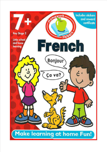 French 7+ Key Stage 2 NEW Homework Helpers For Primary Cheapest Stickers Book