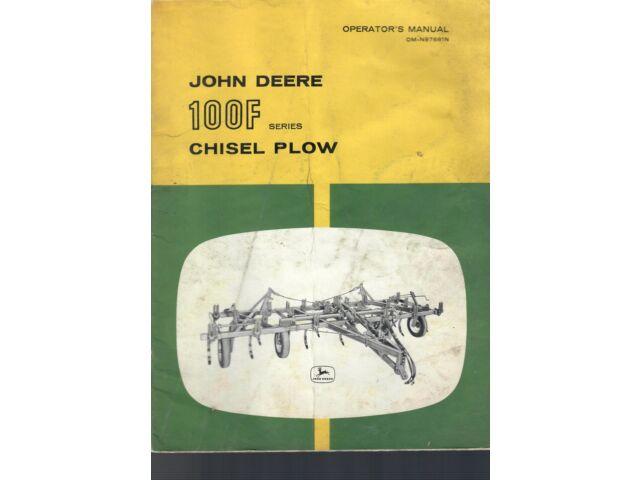 John Deere Operator's Manual 100 F Series Chi