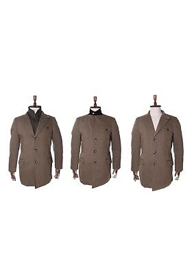 Men's FAY Olive Cotton Blend 2 in 1 Driving Coat Size M