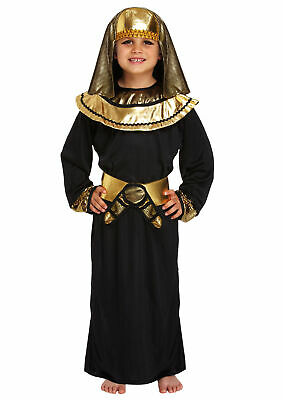Child Egyptian Pharaoh Costume 10-12 Years - Boy Girl Kids Play Book Week Outfit
