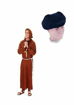 Friar Tuck Costume Mens Monk Fancy Dress Outfit & Wig Religious Halloween Outfit