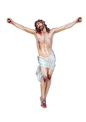 Agonyzing Crucifix .FIBERGLASS FOR OUTDOOR OR INDOORALTEZZA cm. 180 5,90 FeetIDONEO PER ESTERNI E INTERNI<br>Nuovo, Realizzato a mano su richiesta d'ordine Idoneo per esterni o interni Completo di occhi di cristallo inclusi