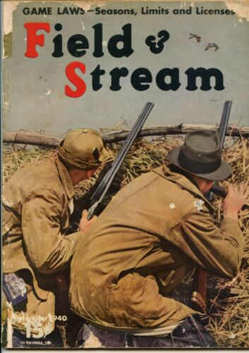 Field and Stream Magazine September 1940 Vintage Issue Free Shipping!