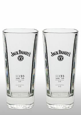 Jack Daniels Tall Whiskey Glass X 2