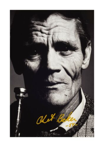 Chet Baker 1 A4 reproduction autograph photograph poster with choice of frame