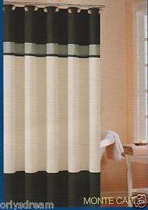 Soft Microfiber Fabric Shower Curtain 034 Monte Carlo 034 Black Grey Amp Beige Colors Ebay