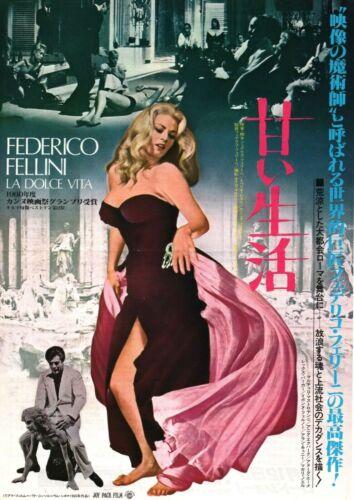 La Dolce Vita 1960 Federico Fellini Japan Chirashi Flyer Poster B5
