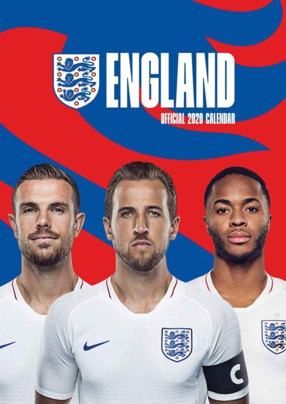 England+FC+2020+Official+A3+Wall+Calendar+Football