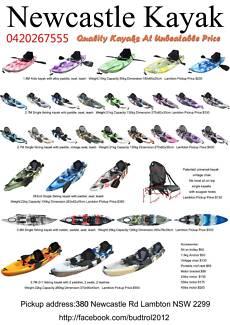 Oct sale 2.7M best value single fishing kayak in Newcastle