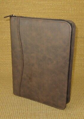 Classicdesk 1 Rings Brown Sim. Leather Day-timer Zip Plannerbinder Franklin