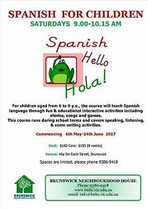 SPANISH for Children (Saturday Classes) Brunswick Moreland Area Preview