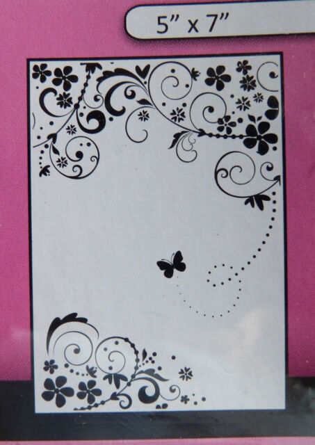 """Crafts-Too/CTFD3101/Embossing /Folder/Summer Days Flowers Butterfly 5"""" x 7"""""""