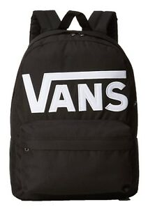 VANS Old Skool II Rucksack Black White Backpack School Casual Smart Work Bag