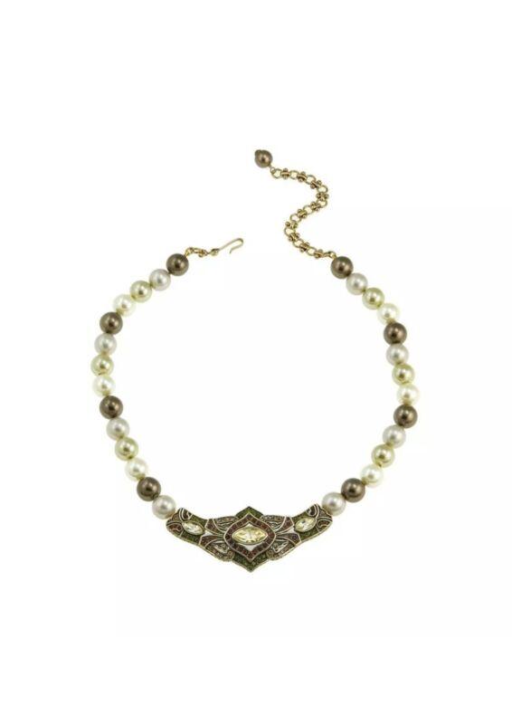 "HEIDI DAUS ""Masterful Marquise"" Jonquill bead & Swarovski crystal necklace"