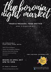 Vendors Wanted! Boronia Night Market coming soon in April 2017 Boronia Knox Area Preview