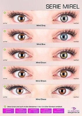 aktlinsen aus Silikon-Hydrogel SUPER NATÜRLICH - GLAMLENS (Farbige Kontaktlinsen)
