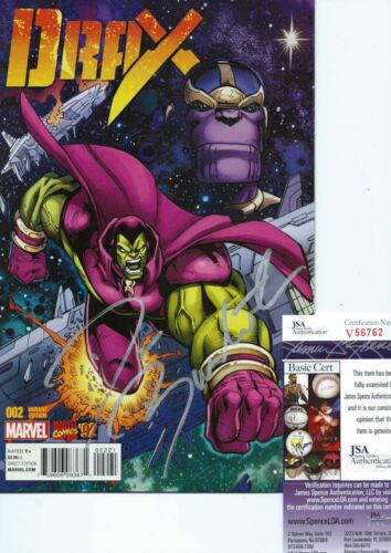 DAVE BAUTISTA SIGNED DRAX #2 COMIC BOOK '92 MARVEL VARIANT COVER GOTG +JSA COA