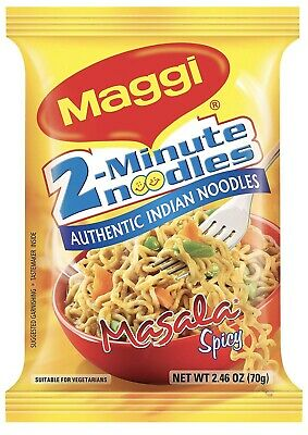 Maggi 2-Minute Noodles Masala, 70g (Pack of 12)Masala Spicy Noodles Fast Delivery