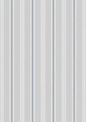 Coastal Stripe on Light Grey, Lewis & Irene. Thalassophile Nautical Theme.