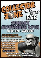 Collector Zone! Toy & Hobby Fair Sunday 29th November Craigie Joondalup Area Preview