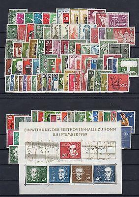 BRD Jahrgang 1955-1959 postfrisch komplett!!!
