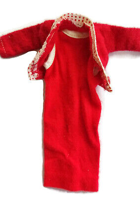 Barbie Doll Dress Red with Jacket Vintage 1960s