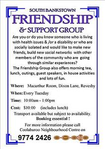 Seniors Friendship & Support Group Padstow Bankstown Area Preview