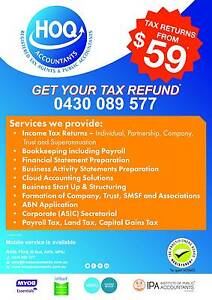 GET YOUR TAX REFUND. Hoq Accountants. Local and professional. Roxburgh Park Hume Area Preview