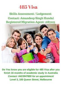 485 Visa Grdauate or Post Graduate or Work Visa Melbourne CBD Melbourne City Preview