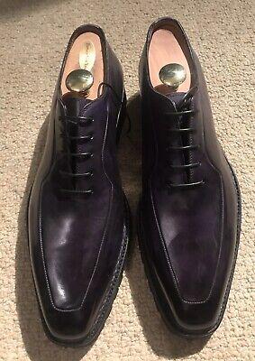 NWOB BONTONI Eggplant Leather Custom Shoes Sz 12 1/2