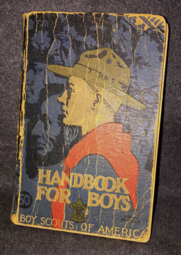 A0128 OA BSA SCOUTS HANDBOOK FOR BOYS - BOY SCOUT HANDBOOK 29th Printing, 4/1938