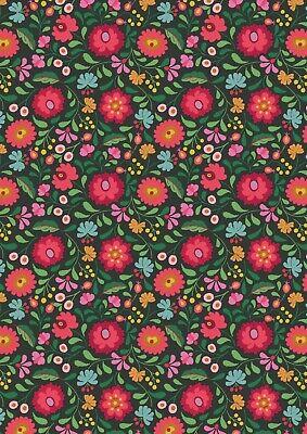 Lewis & Irene, Maya, 100% Cotton Fabric, Fat Quarter, Mexican Folkart
