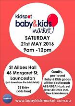 Baby & Kids Market is back at ST AILBES HALL on SAT  21ST of MAY Launceston Region Preview