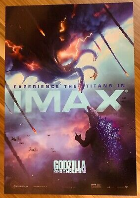 """GODZILLA: KING OF THE MONSTERS Movie poster 13"""" x 19"""" PREMIERE IMAX"""