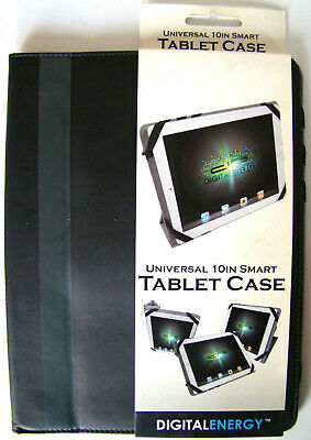 Digital Energy Universal 10 Inch Smart Tablet Case Black / Gray Inside NEW for sale  Shipping to India