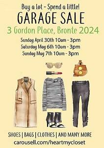 Garage Sale - Clothes | Bags | Shoes and Many More Bronte Eastern Suburbs Preview