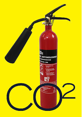 OFFER!!! 2 KG CO2 FIRE EXTINGUISHER BRITISH STANDARD OFFICE HOME ELECTRICAL.EN3