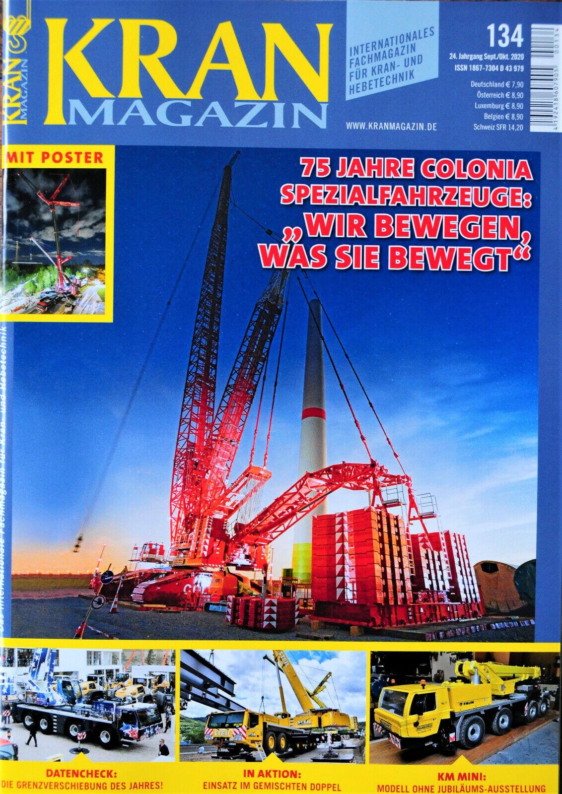 Liebherr LTM 1750 und LR 1800 131 April 2020 Neu ungelesen Kran Magazin Nr