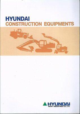 Equipment Brochure - Hyundai - Construction Product Line Overview - 1994 E4916