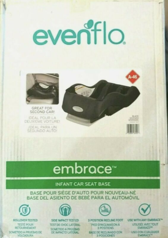 Evenflo Embrace Infant Car Seat Base Black Quick-release Button Baby Safety NEW
