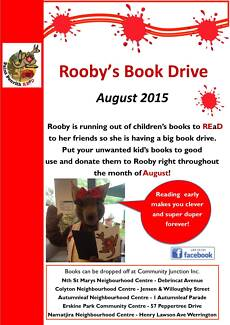 Rooby's Big Kid's Book Drive Colyton Penrith Area Preview