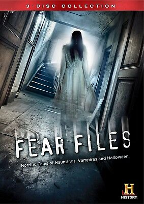 NEW 3DVD - FEAR FILES - VAMPIRES , HALLOWEEN , HAUNTINGS -  HISTORY CHANNEL - Haunted Halloween History Channel