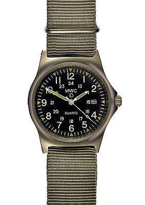 Official MWC G10 LM 12/24 Hour NATO Dial Stainless Steel Military Watch