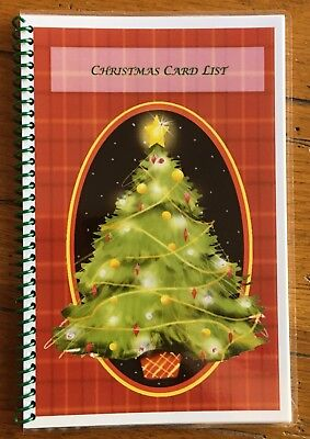 Christmas Card Address Book Organizer Personalized Gift 430 entries ()