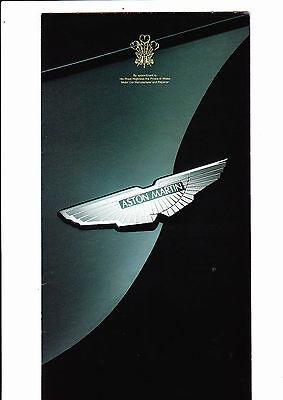 Aston Martin range foldout brochure (DB7 Volante poster) - 1996 - mint
