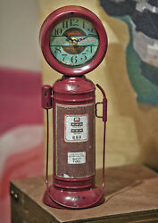 FILL 'ER UP VINTAGE GAS PUMP TABLETOP CLOCK - MENS GIFTS