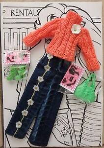 Dolls Clothes: Cotton Candy Jumper/Jeans - Barbie type Doll Greenwood Joondalup Area Preview