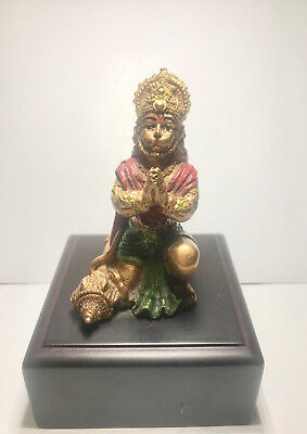 HANUMAAN APE GOD BLESSING DETAILED VINTAGE FINISH BAJRANG BALI DEITY 6 inch